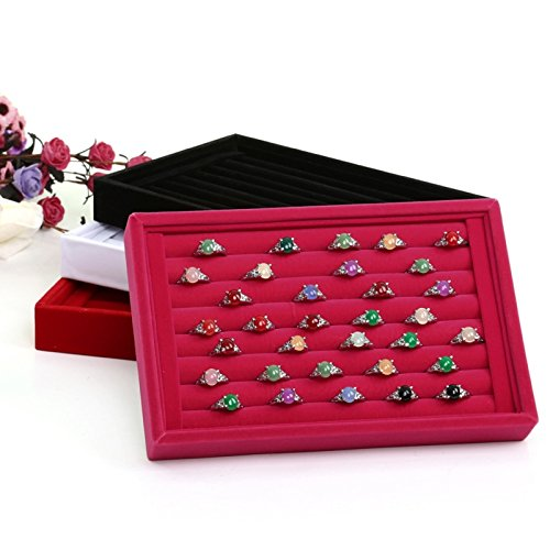 GigaMax Velvet Earrings Ring Organizer Ear Studs Jewelry Display Stand Holder Rack Showcase 6 Colors 22.514.53cm(LWH)