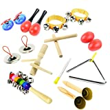 Extpro 10 PCS Band Insrtument Rhythm Toys Set Musical Instruments Bulk Music Shakers for Babies Children Toddlers