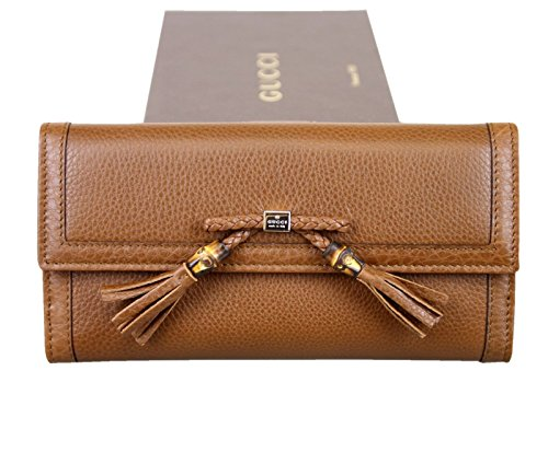Gucci Women's Brown Bamboo Tassel Leather Wallet 269981 2535