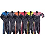 Two Piece RS5001 Motorcycle Rain Gear S Red