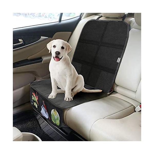 Rovtop 2 Pack Proteggi Sedile Auto, Coprisedile Bambini,per Proteggere la Tappezzeria in Pelle del Veicolo,Adatto per… 5