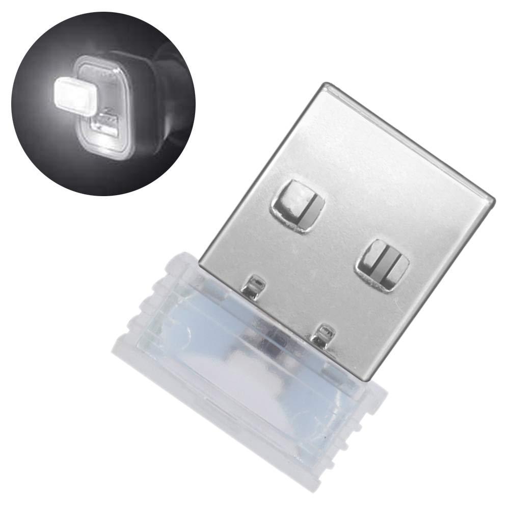 Muzhili3 luz ambiental decorativa color blanco Luz LED de noche para interior de coche