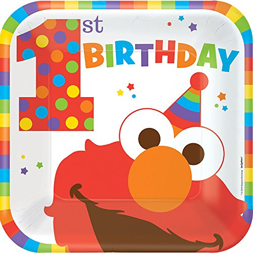Sesame Street 1st Birthday 'Elmo Turns One' Large Paper Plates (8ct)
