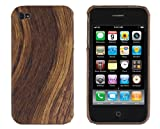 Hard Wood Case for Apple iPhone 4/4S - AT&T, Verizon, Sprint - Walnut