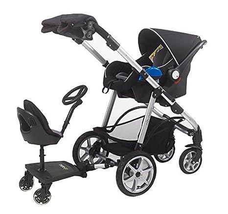 mee-go Sit N Ride S Rider Universal Buggy Ride On Board Con Asiento Y Volante para adaptarse a todos los cochecitos, cochecitos y carritos
