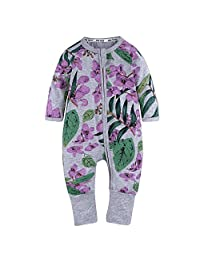 Kids Tales Baby Handed Footed Zipper Pajama Sleeper Cotton Romper(Size 3M-3T)