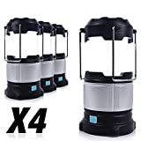 PARTYSAVING [4-Pack] Camping Emergency Portable LED Lantern with Built-in Power Bank, and Rechargeable Battery, APL1423