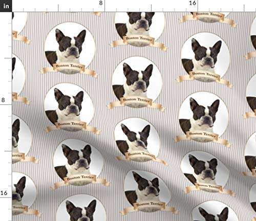 Spoonflower Boston Fabric - Terrier Dog Pet Animal for sale  Delivered anywhere in USA
