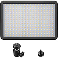 LED Video Light, Powerextra 288 Beads 42W Bi-Color Dimmable Video Lamp Adjustable Color Temperature 3000K-6000K for Camera, Camcorder, Studio, Youtube, Photography, Video Shooting
