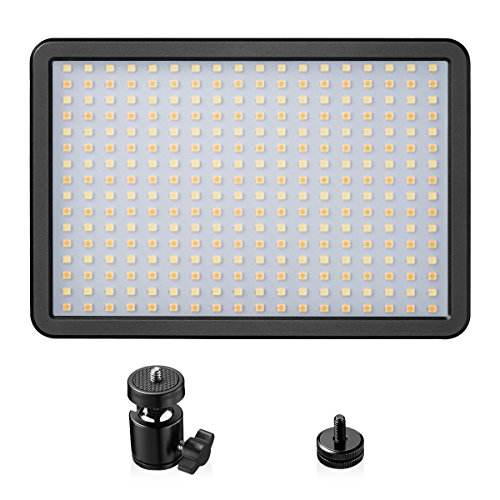 LED Video Light, Powerextra 288 Beads 42W Bi-Color Dimmable Video Lamp Adjustable Color Temperature 3000K-6000K for Camera, Camcorder, Studio, Youtube, Photography, Video Shooting by Powerextra