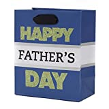 Hallmark Father's Day Small Gift Bag (Green on Blue)