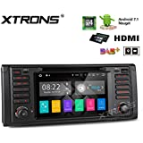 XTRONS HDMI Android 7.1 Quad Core 7 Inch HD Digital Touch Screen Car Stereo Radio DVD Player GPS for BMW 5 Series 7 Series E39 M5
