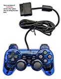 Donop® Wired Blue Game Pad Game Gaming Controller Joypad Gamepad Console Controller Joysticks for Sony Playstation 2 Ps2
