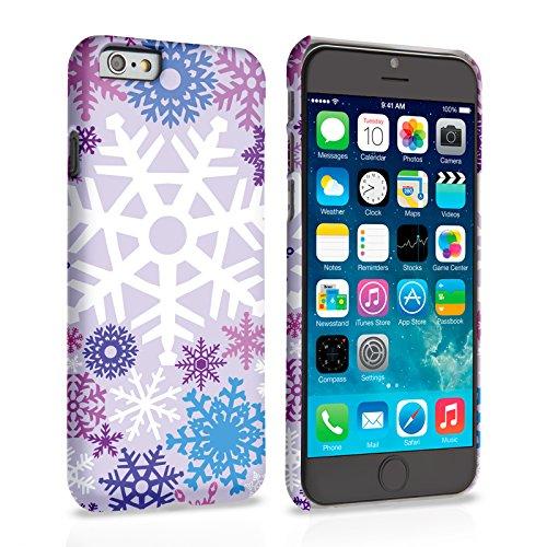 Caseflex iPhone 6 / 6S Hülle Lila / Blau Winter Weihnachten Schneeflocke Hart Schutzhülle