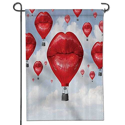 Summer Garden Flag Double-sided,Sexy Woman Lips Shaped Hot B