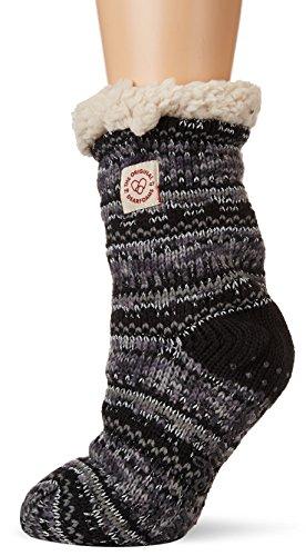 Slipper Blizzard Sock Black Women's Fairisle Fancy Dearfoams wAFRft