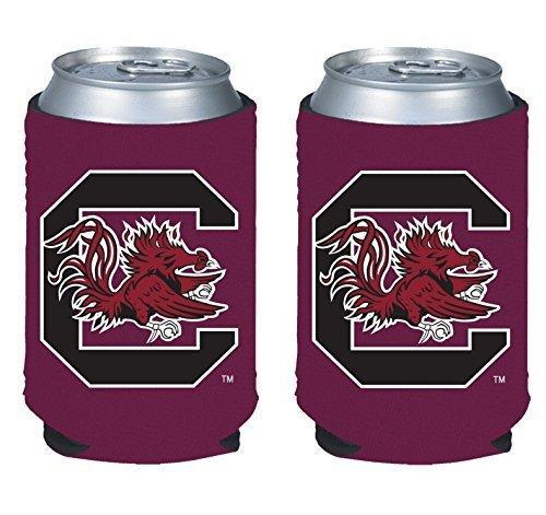 South University Gamecock Carolina Logo (NCAA College 2014 Team Logo Color Can Kaddy Holder Cooler 2-Pack (South Carolina Gamecocks))