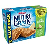 Kellogg's Nutri-Grain, Soft Baked Breakfast Bars, Apple Cinnamon, Made with Whole Grain, Value Pack, 20.8 Oz ,Pack of 3