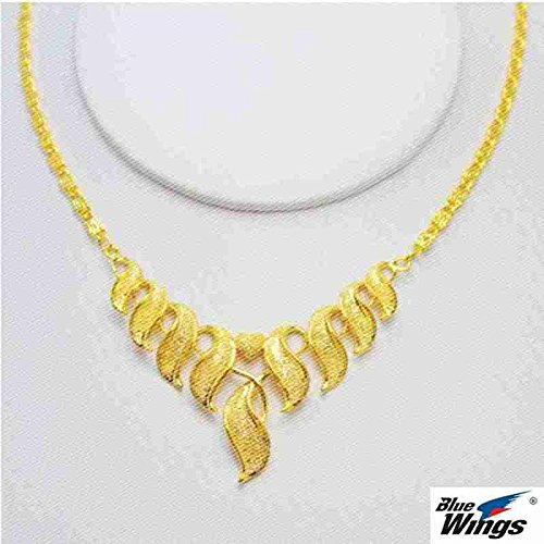 Generic The_ new bride married _24K_ gold-plated jewelry gold _alluvial_ gold wedding necklace pendant women girl models _wearing_Vietnamese_real_man