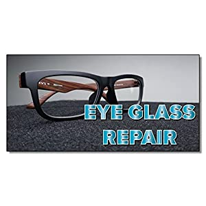 Eye Glass Repair Business DECAL STICKER Retail Store Sign 4.5 x 12 inches