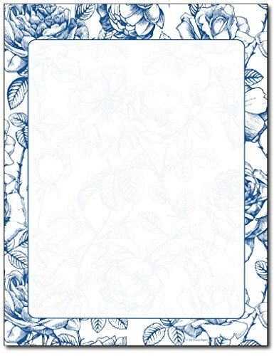 French Rose Stationery Paper - 80 Sheets