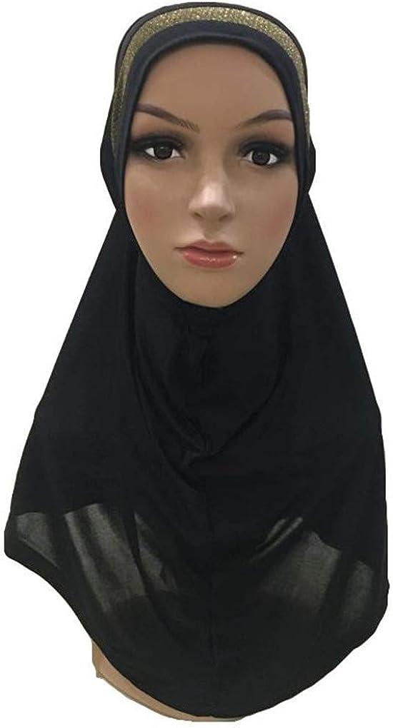 Plain Scarf Women Muslim One Piece Princess Hijab Islamic Hijabs Head Cover Wrap Shawl Turban Soft Headscarf Arab