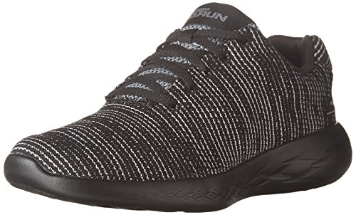 Skechers Performance Women's Go Run 600-Obtain Sneaker,Black/Gray,8.5 M US
