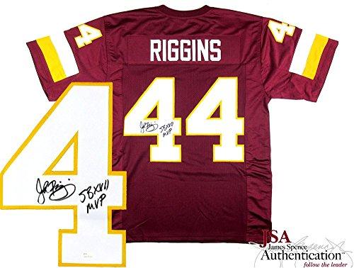 c63684dae John Riggins Autographed Signed Washington Redskins Maroon Custom Jersey  with