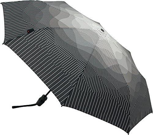 [해외]Knirps 접는 우산 원터치 자동 개폐 내구성 강화 【 정식 수입품 】 T.220 MediumDuomaticSafety NUNO 짙은 안개 KNTL220-8233 / Knirps Folding Umbrella One Touch Automatic Opening and Closing Durability Enhancement [Regular Import