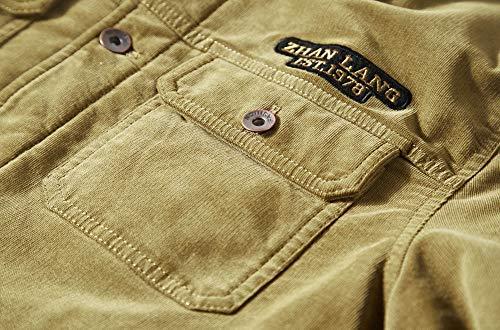 Multi Moxishop Blousons Casual Outwear Manche poches Velours Classique Veste Hiver Côtelé Mens Vintage Chaud Manteaux Homme Coat Parka Jaune Longue CwXqCrx6