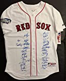 Boston Red Sox 2004 World Championship Team Signed Jersey - from private signings. Signed by 26. PSA/DNA.