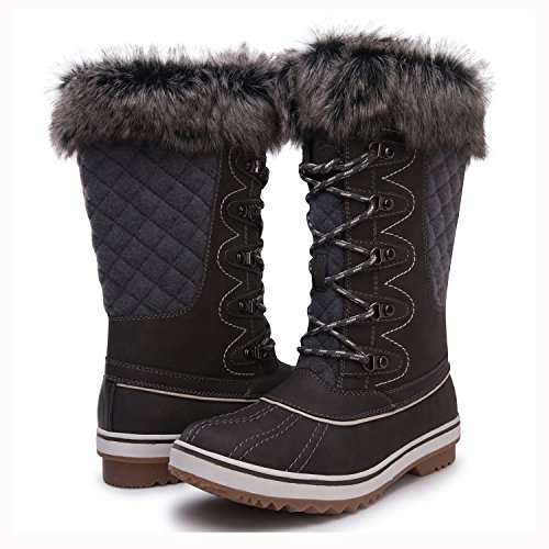 Kingshow Women's Globalwin 1715grey Waterproof Winter Boots - 9