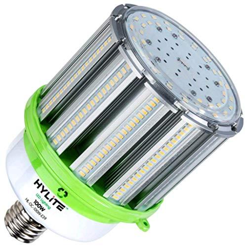 (HyLite LED Lighting HL-OC-100 W-E39-50K Omni-Cob Lamp, 400 W Equivalent, 5000K, 14000 Lumens, Ballast Bypass AC Direct Wiring 120-277V, Mogul (EX39) Base, Hid Retrofit, IP 65, UL and Dlc Listed, CE Certified, 20kA Surge Protection)