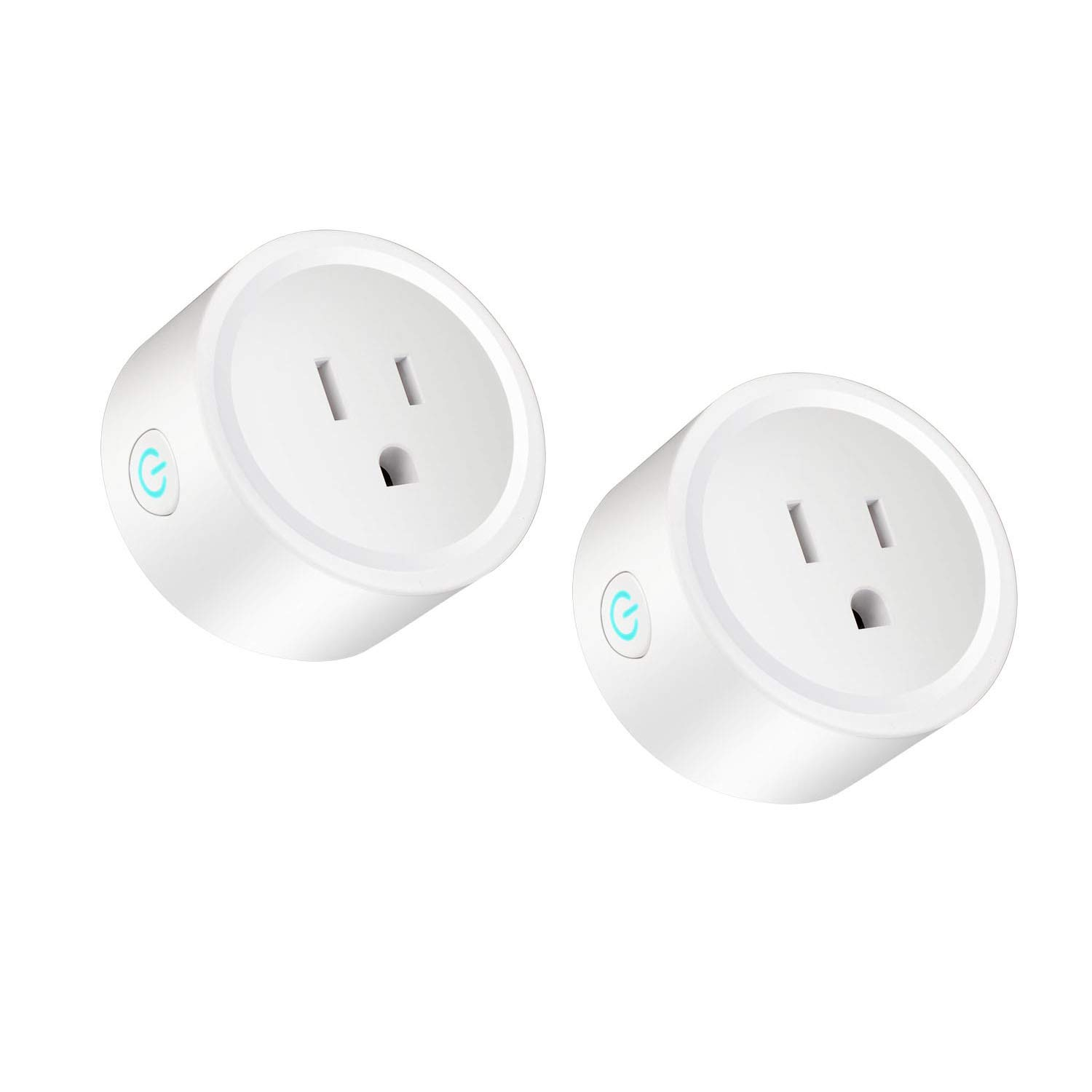 TEESSO WiFi Smart Plug Work with Amazon Alexa, Google Home, IFTTT, Mini Wireless Outlet Switch Remote Control Your Devices from Anywhere-2 Pack