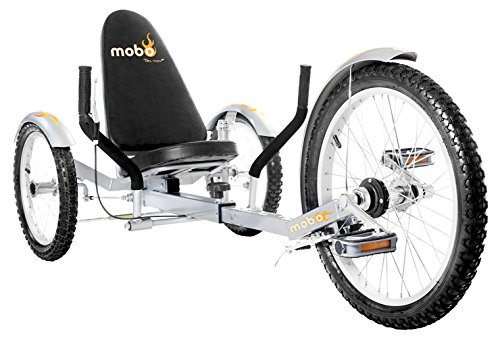 Mobo Triton Pro Recumbent Tricycle for Men & Women. 3-Wheeled Bike. Cruiser Lowrider Trike - Lowrider Trike Bikes