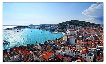 Croacia casas Costa Split ciudades muebles & decoración imán ...