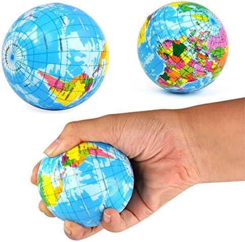 Rhode Island Novelty Globe Sponge Ball Stress Relief Ball