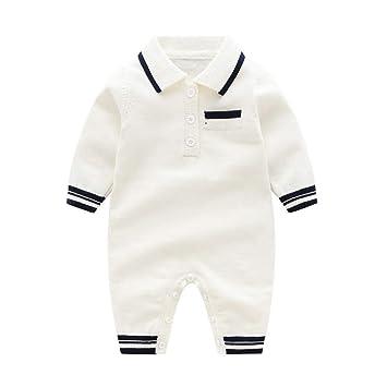 QSEFT Invierno Recién Nacidos Botón del Bebé Mamelucos Solapa De Punto Suéter Mono Moda Abrigo 0-18 Meses: Amazon.es: Deportes y aire libre