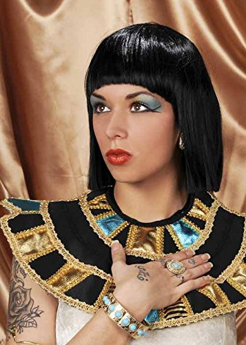 Deluxe Black Cleopatra Costumes Wig (Womens Deluxe Black Cleopatra Wig)