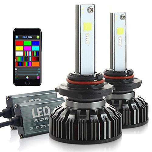 Redcolourful RGB Headlight Car LED Colorful BT APP H7 H4 LeadLamp Lamp Bulb 5202 / H16 Practical Car Accessories