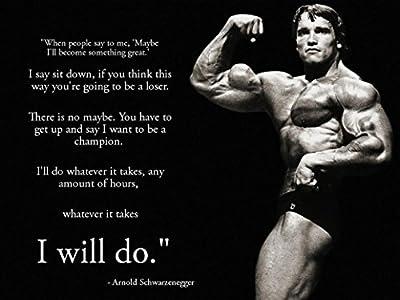 Arnold Schwarzenegger Inspiration Bodybuilding poster