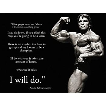 Arnold Schwarzenegger Inspiration Bodybuilding Poster 17 Inch X 13