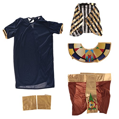 Ancient History Costume (MonkeyJack Ancient Egyptian Pharaoh King Costume Boys Child Halloween Fancy Dress History Book Week - Multicolor, XL)