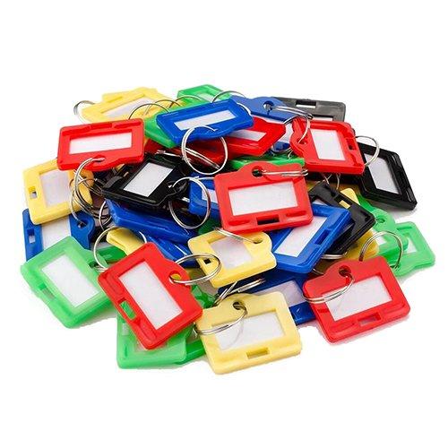 BARSKA Safe AF12836 50 Key Tags Small, Assorted Color