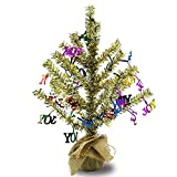 YuQi 18 ''Artificial Table Trees Mini with Burlap Base, Home Decor for Table