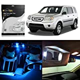led package - Partsam Honda Pilot 2009-2015 Ice Blue Interior LED Package Kit + License Plate Lights (17 Pieces)