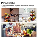 Hokyzam 3 Tier Fruit Basket Fruit Bowl Stand for