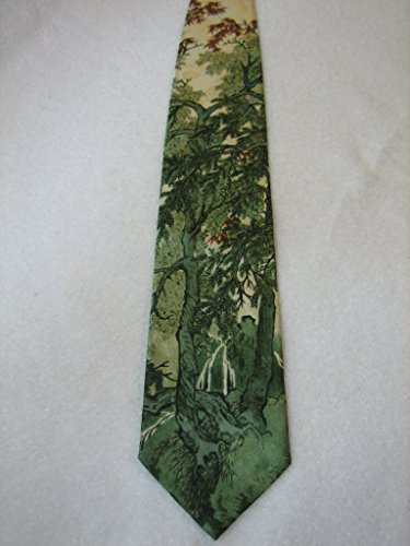 Vintage Oriental Rainforest Silk Necktie