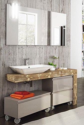 Dafnedesign.com - Mobile da bagno top in legno, lavabo a vista e ...