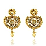 Crunchy Fashion Bollywood Style Party Wear Traditional Indian Jewelry Chandbali Earrings for Women
